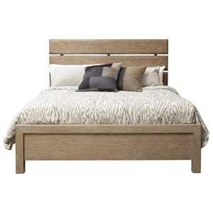 Queen Plank Bed in Aged Honey Finish