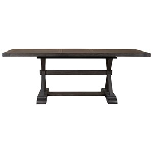 "Trestle Gathering Table with 24"" Table Leaf"