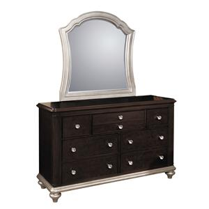 Samuel Lawrence Glamour 7 Drawer Dresser & Mirror Set