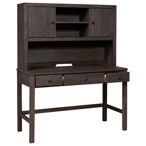 3-Drawer Desk and Hutch with USB Chargers