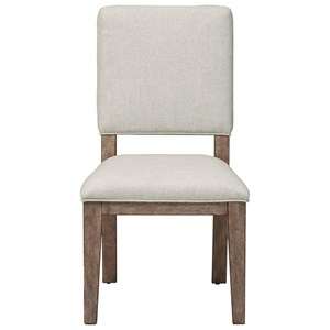 Side Chair with White Upholstered Seat and Back