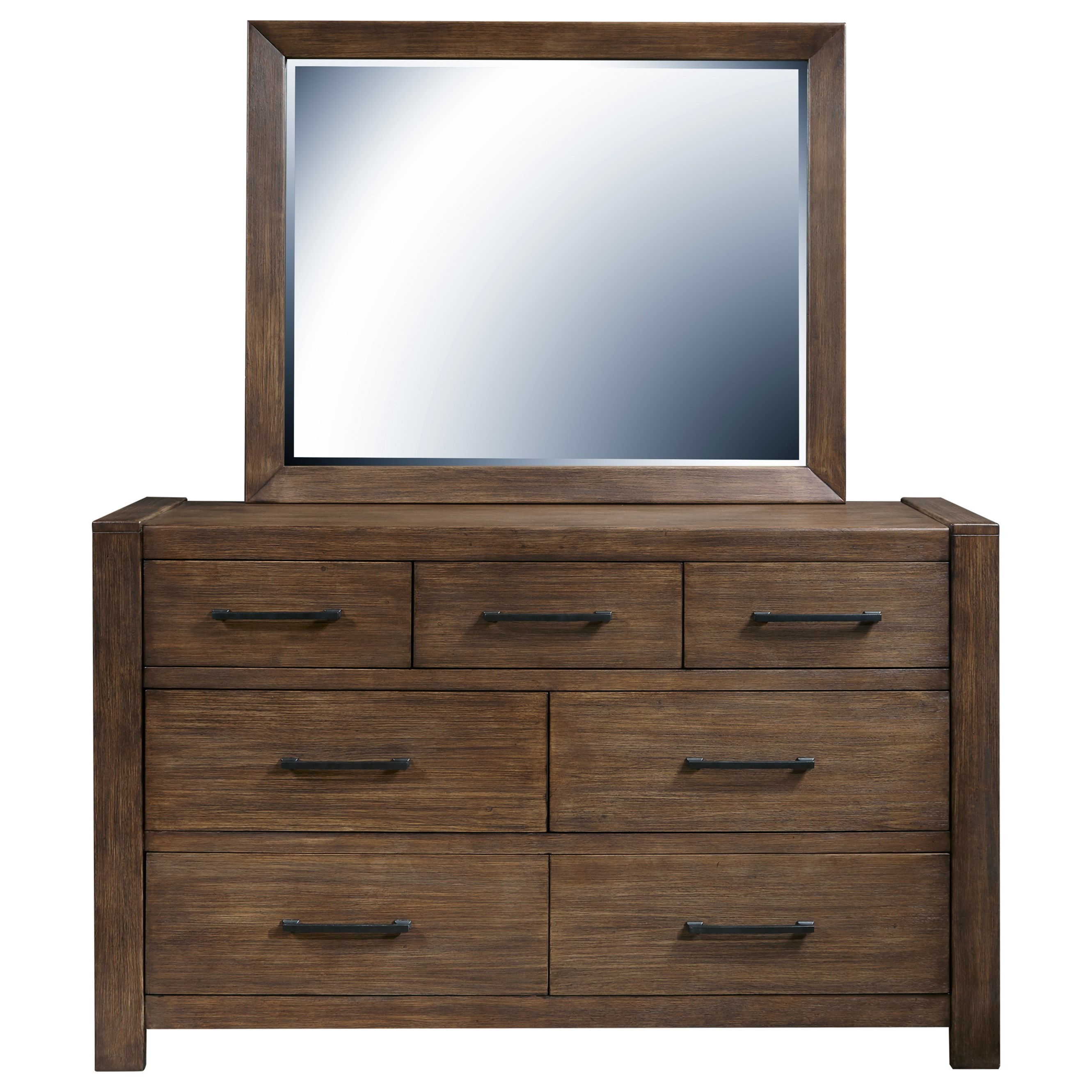 Hops Dresser and Mirror Combo by Samuel Lawrence at Nassau Furniture and Mattress