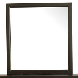 Contemporary Landscape Mirror with Wood Frame