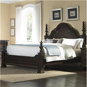 Cal King Poster Bed w/ Turned Posts