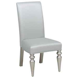 Glam Side Chair with Tufted Back