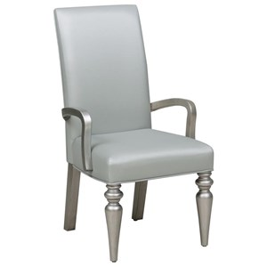 Glam Arm Chair with Tufted Back