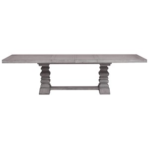 Trestle Dining Table with Square Turned Pedestal Legs
