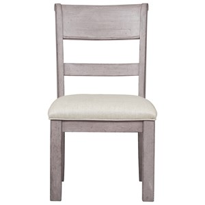 Upholstered Wood Back Side Chair