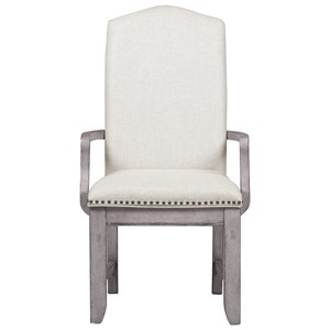 Upholstered Arm Chair with Nail Head Trim