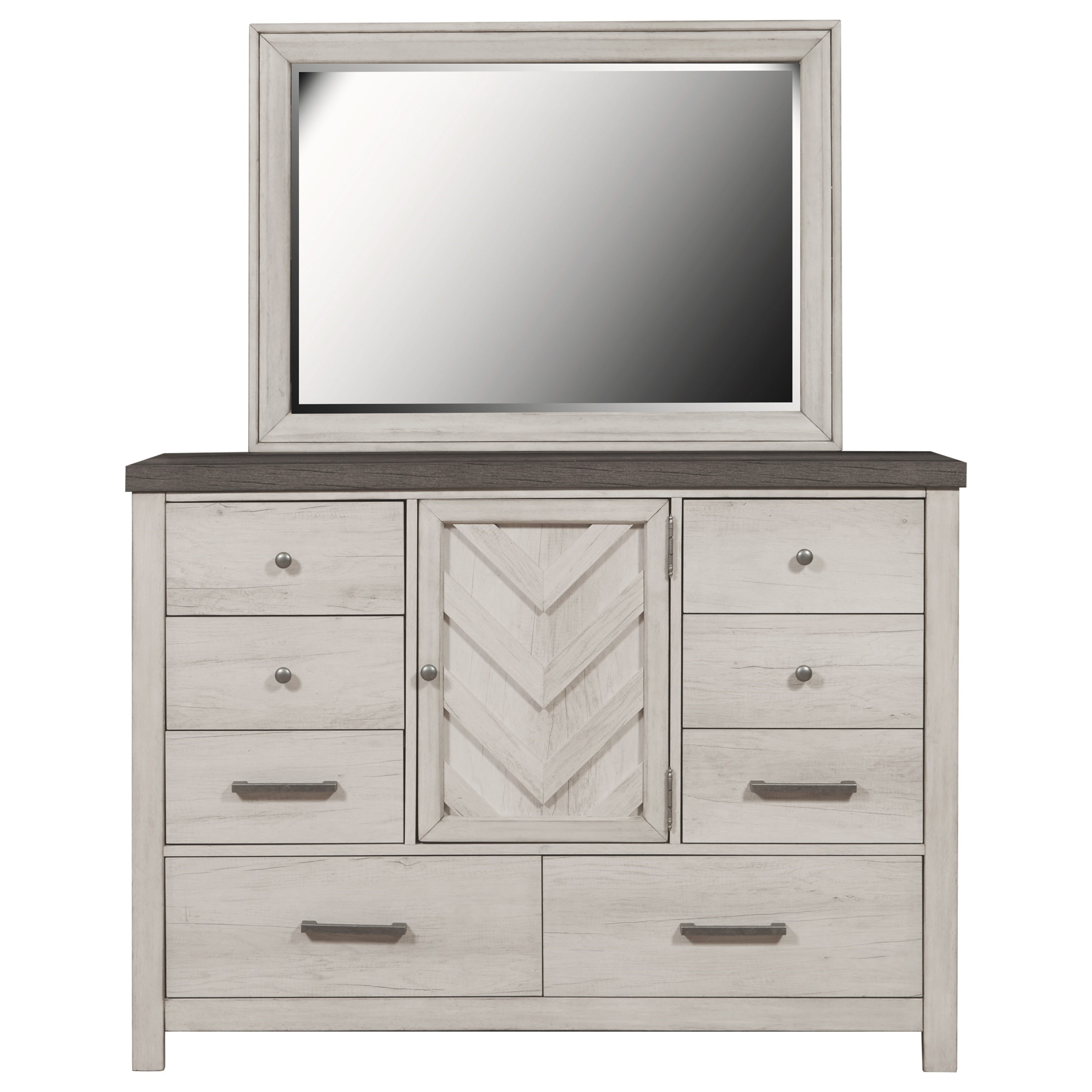 Riverwood Bureau Dresser and Mirror Set by Samuel Lawrence at Dream Home Interiors