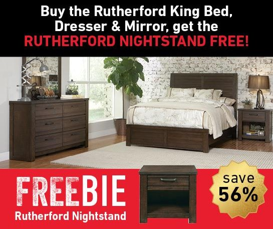 Rutherford Rutherford King Bed Set with Freebie! by Samuel Lawrence at Morris Home