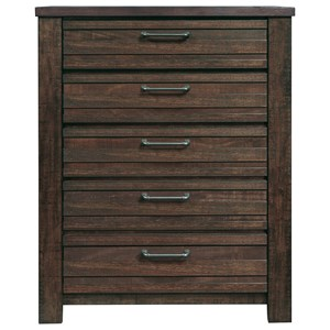 5 Drawer Chest with Oversized Hardware