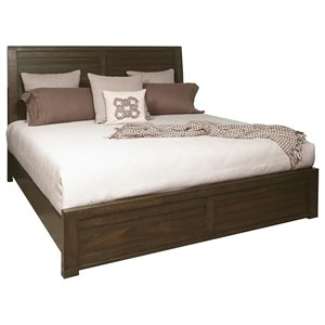 Queen Bed with Staggered Planking