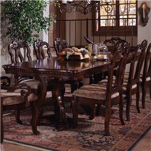 Pedestal Extension Formal Dining Table