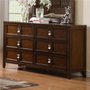 Six Drawer Dresser with Birch Veneer