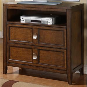 TV Stand with Two Drawers and Component Shelf