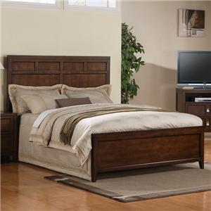 King Panel Bed with Wood Veneer