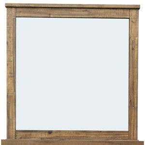 Landscape Mirror with Weathered Wood Frame