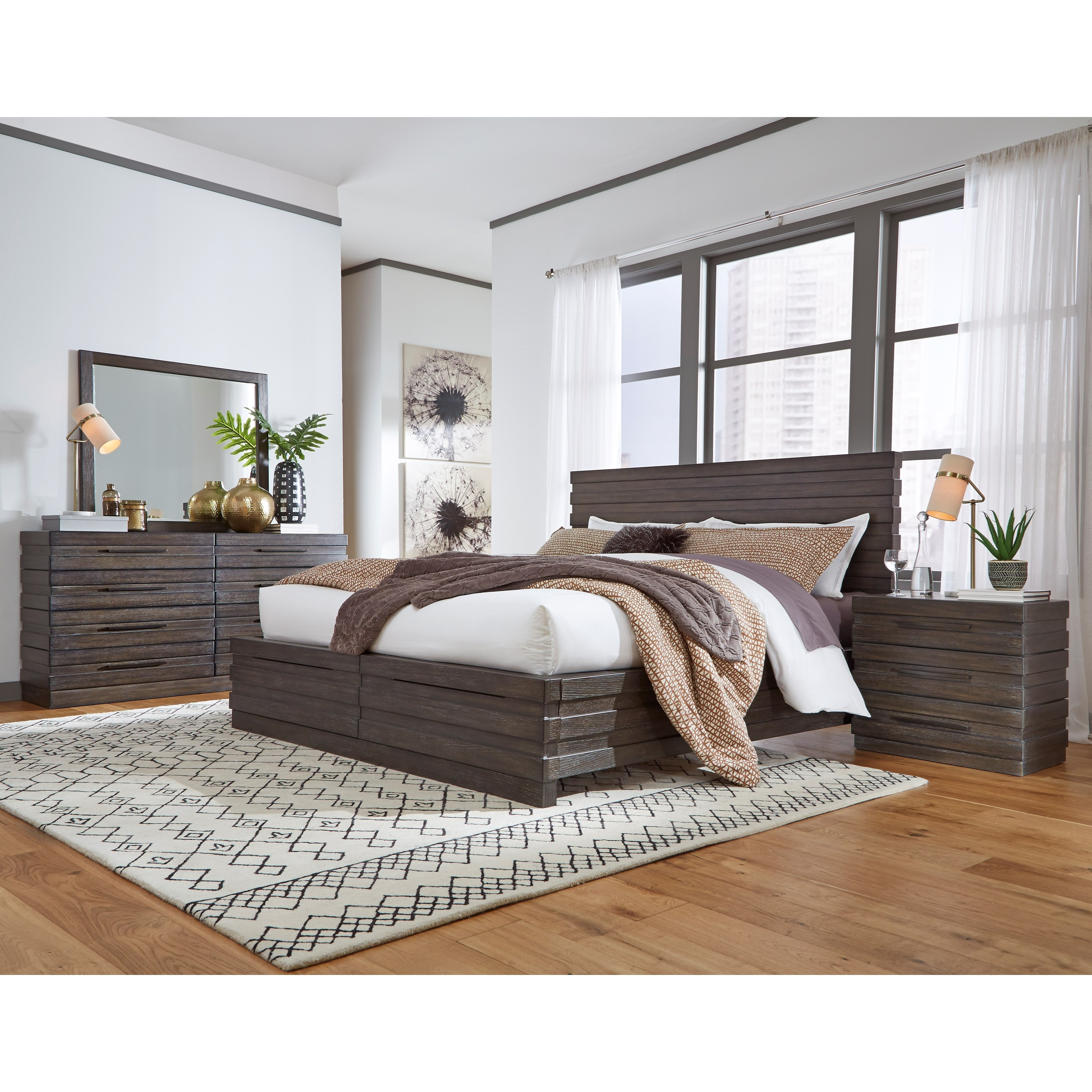 Stakhaus California King Bedroom Group by Samuel Lawrence at Carolina Direct