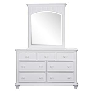 Samuel Lawrence SummerTime Youth White 7 Drawer Dresser & Mirror Set