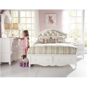 Samuel Lawrence SweetHeart Youth Twin Upholstered Bed