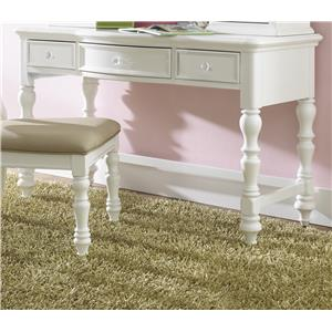 3 Drawer Desk with Crystal Knobs