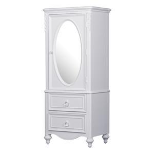 Door Wardrobe with Oval Mirror