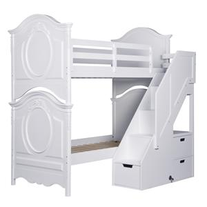 Samuel Lawrence SweetHeart Youth Twin Bunk Bed