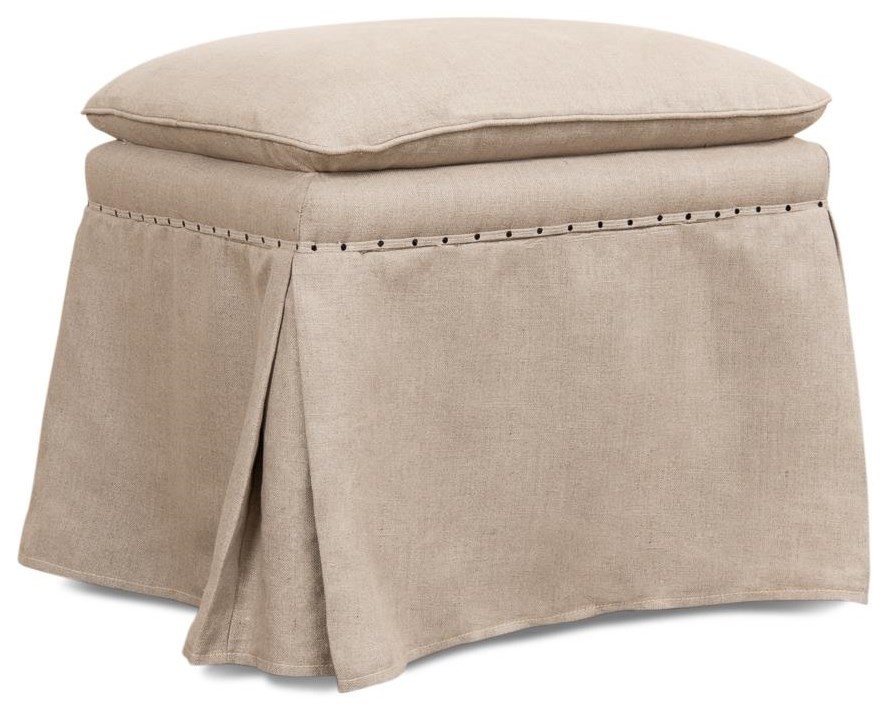Benches, Stools and Ottomans Draped Ottoman by Sarreid Ltd at Jacksonville Furniture Mart