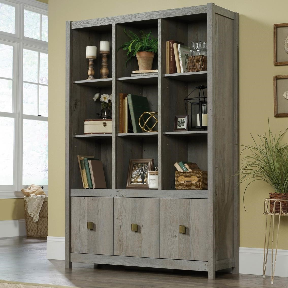 Cannery Bridge Storage Wall by Sauder at Darvin Furniture