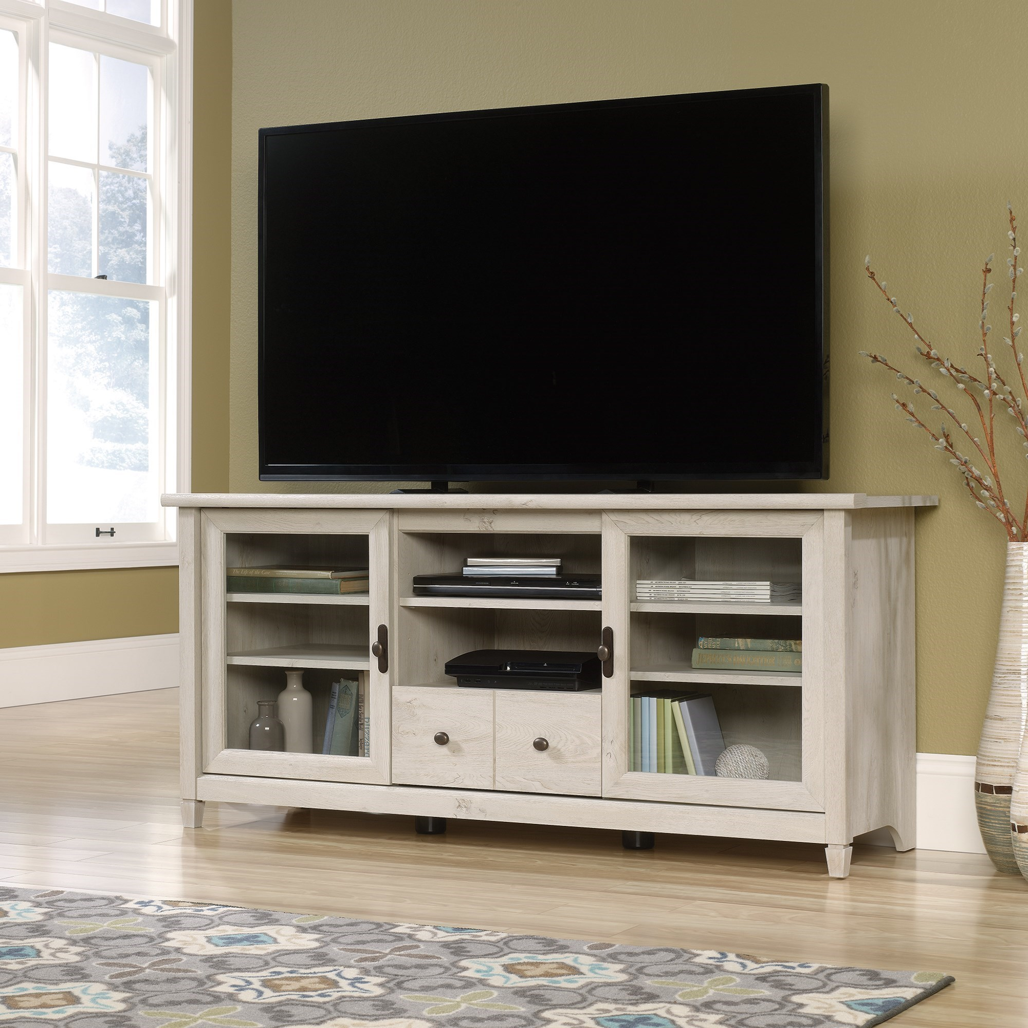 Edge Water Entertainment Credenza by Sauder at Westrich Furniture & Appliances