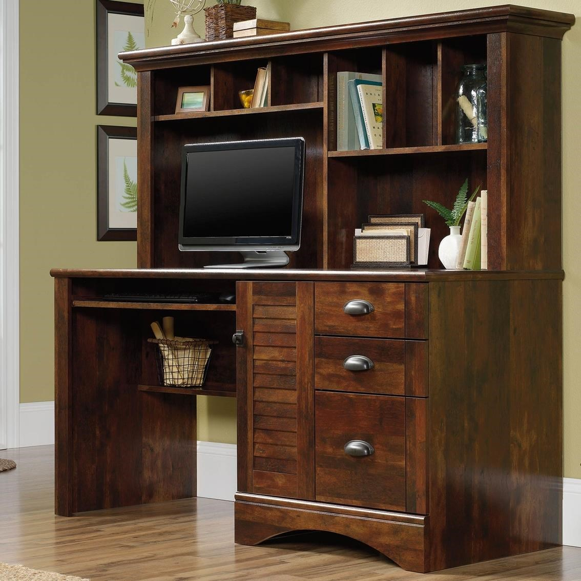 Harbor View Desk and Hutch by Sauder at Darvin Furniture
