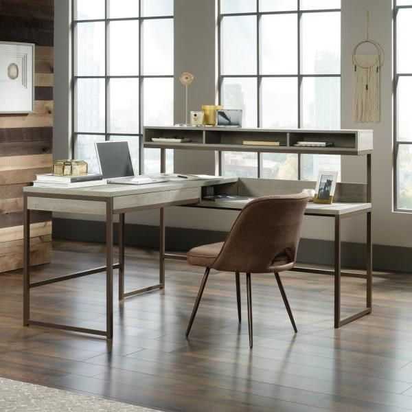 Manhattan Gate L Shaped Desk by Sauder at Darvin Furniture