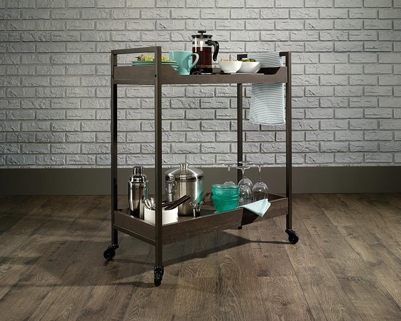 North Avenue Serving Bar Cart by Sauder at Red Knot