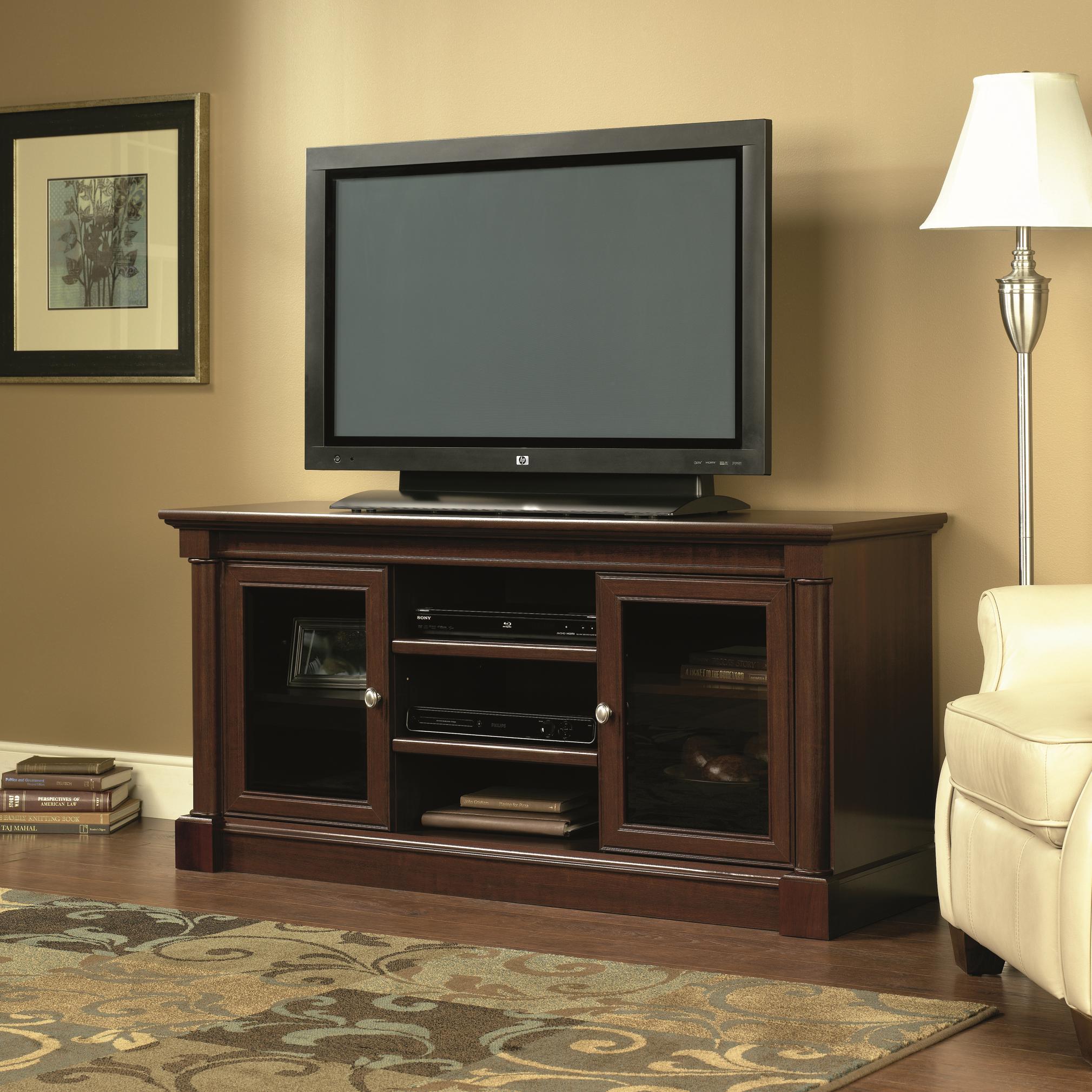 Palladia Entertainment Credenza by Sauder at Westrich Furniture & Appliances