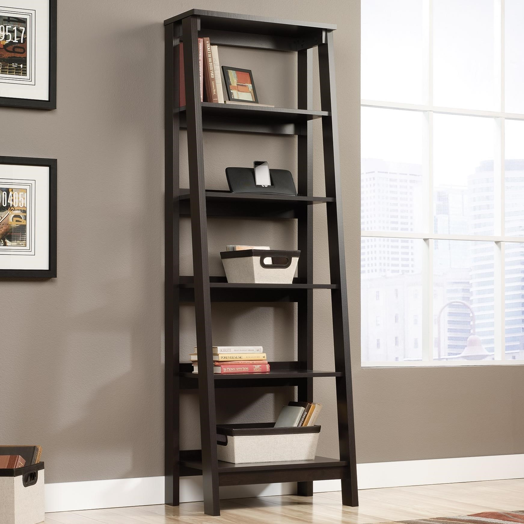 Select 5-Shelf Bookcase by Sauder at Darvin Furniture
