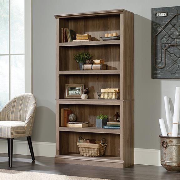 Select 5 Shelf Bookcase by Sauder at Darvin Furniture