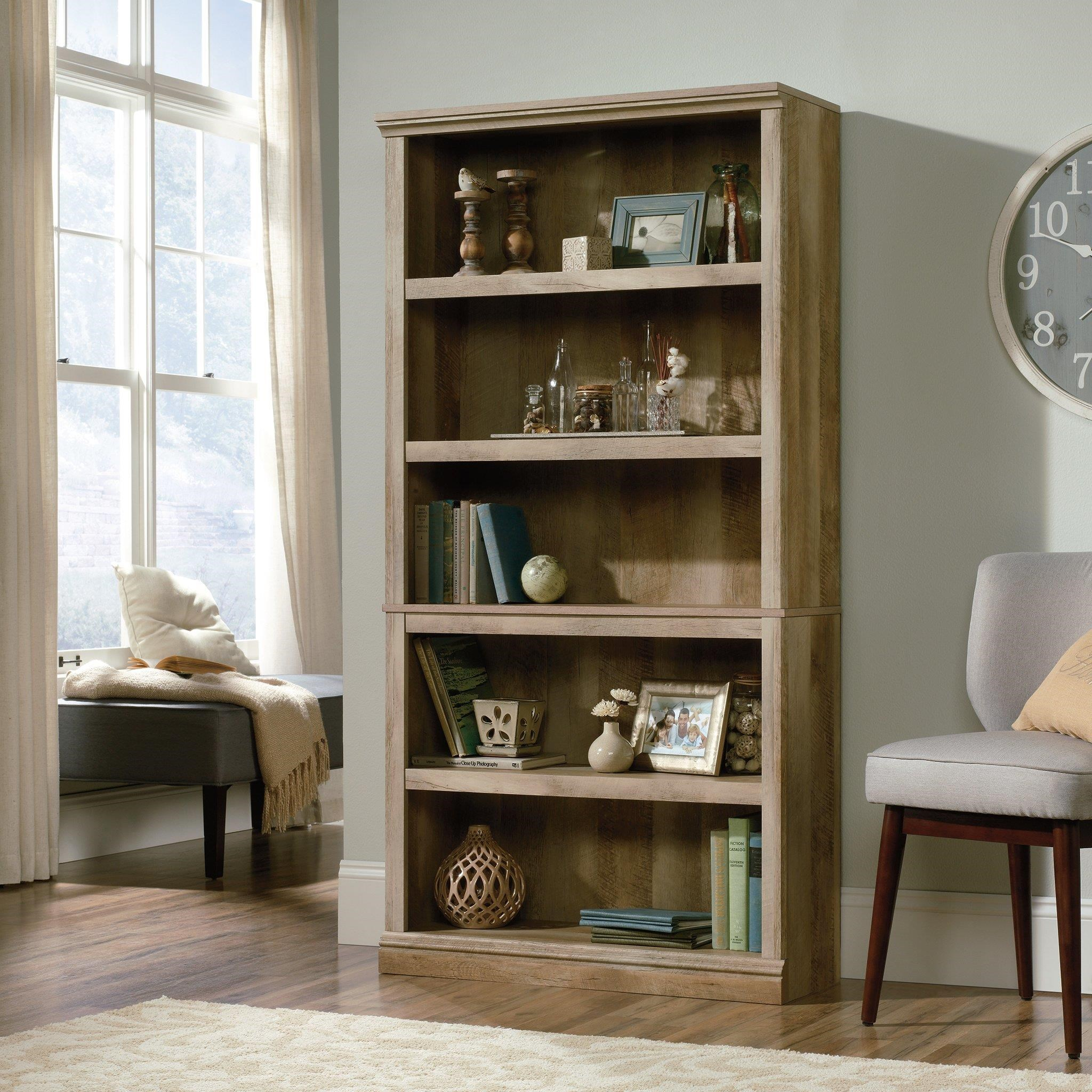 Select 5 Shelf Bookcase by Sauder at Darvin Furniture