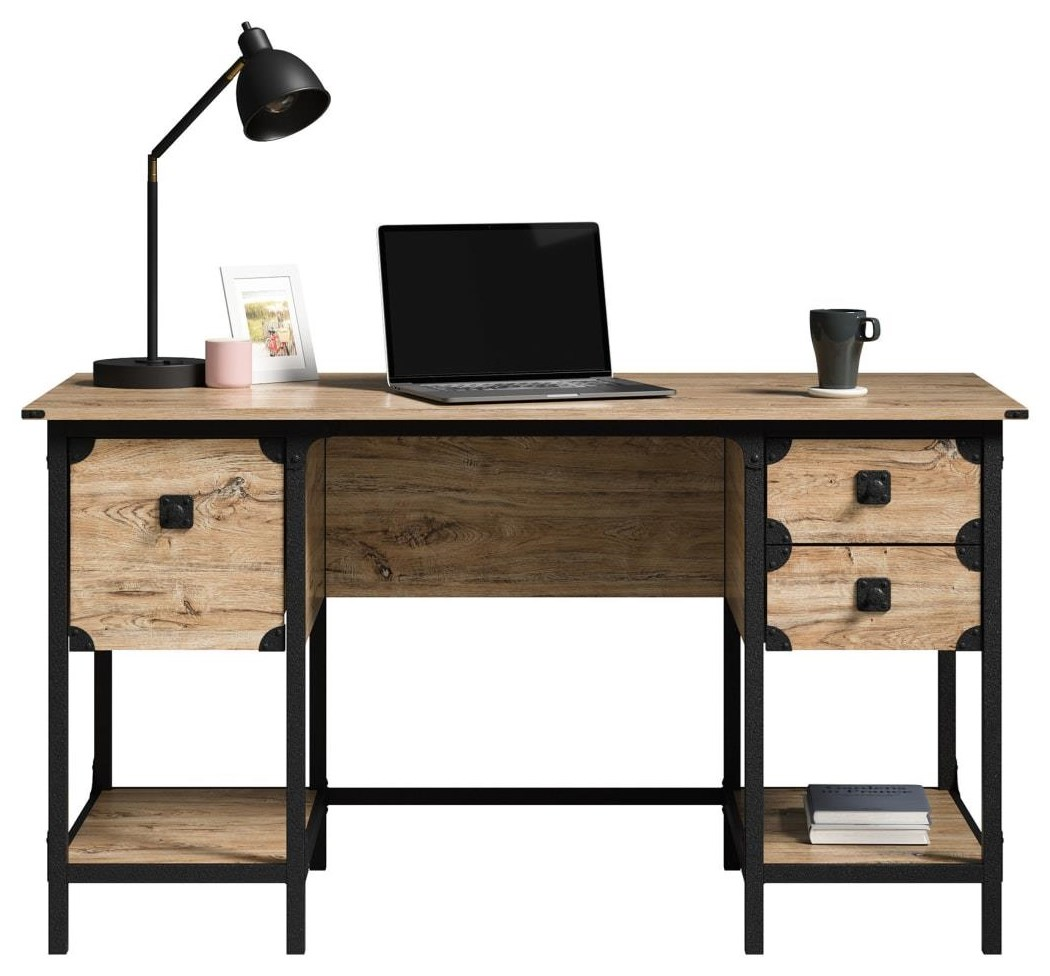 Steel River Small Desk w/Drawers by Sauder at Becker Furniture