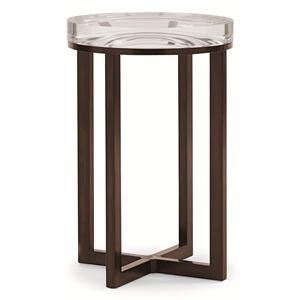 """""""Depth Perception"""" 16-Inch Round Side Table with Acrylic Top"""