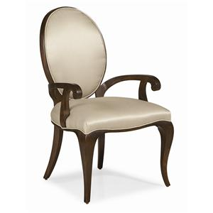 """Kaleidescope Home Caracole - Classic """"Curve Appeal"""" Dining Arm Chair"""