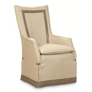 "Kaleidescope Home Caracole - Classic ""It's a Cover Up"" Upholstered Arm Chair"