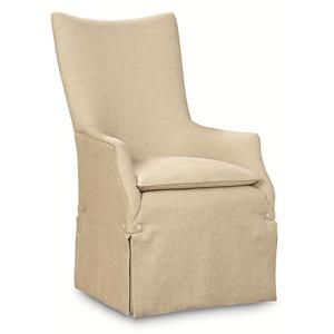 "Kaleidescope Home Caracole - Classic ""watch My Back"" Upholstered Arm Chair"