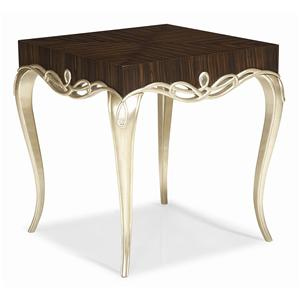 "Kaleidescope Home Caracole - Classic ""It's Hip 2 B Square"" End Table"