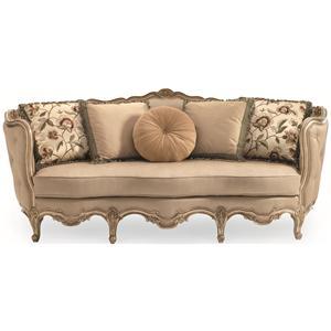 Schnadig Florence Florence Carved Wood Sofa
