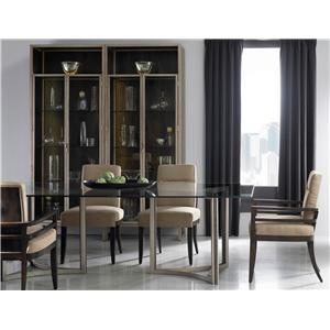Schnadig Modern Artisan Artisans Dining Table & Craftsmen Side Chair