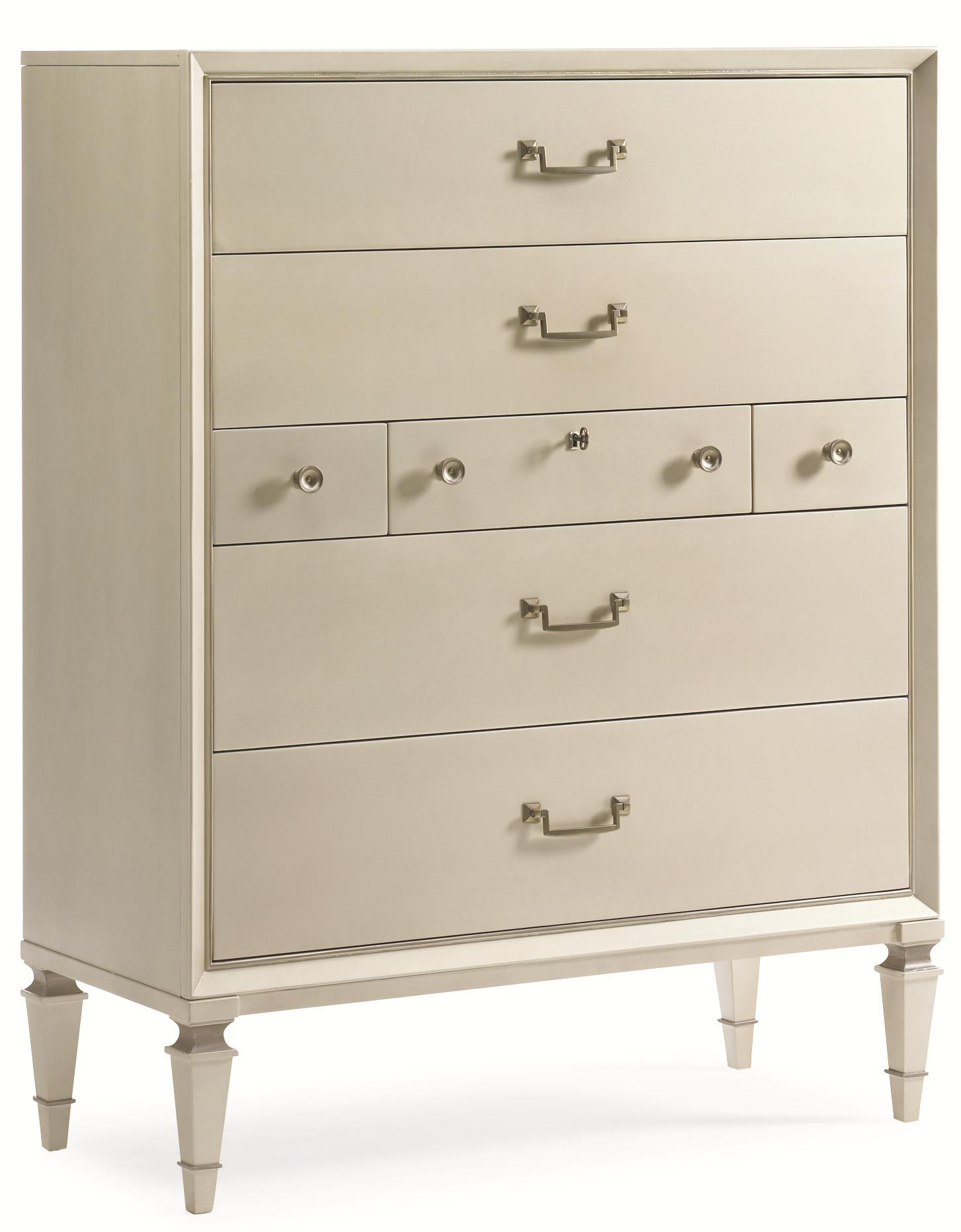 """New Traditional """"Pearly White"""" Drawer Chest by Caracole at Baer's Furniture"""