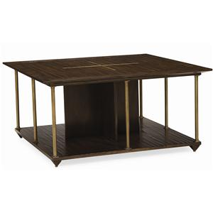 "Caracole Home Caracole - New Traditional ""Brass Axis"" Cocktail Table"