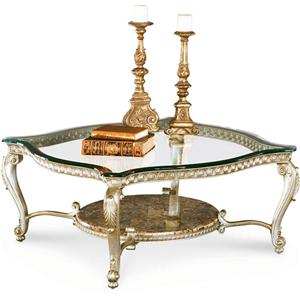Schnadig Regency Silver Palace Cocktail Table