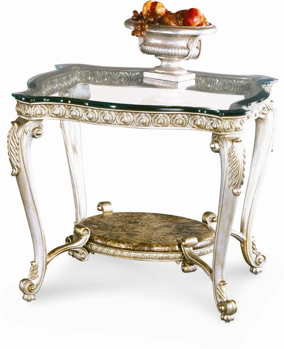Regency Silver Palace End Table by Caracole at Malouf Furniture Co.